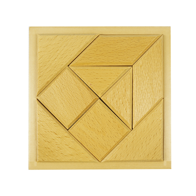 2019 Toys Kids Wholesale Custom Tangram Wooden Tangram Puzzle