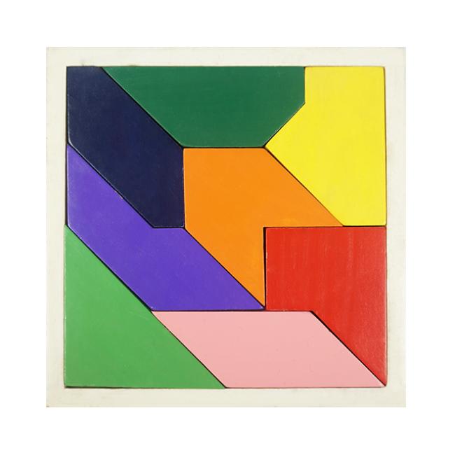 Custom Colorful Tangram Wooden Tangram Puzzle