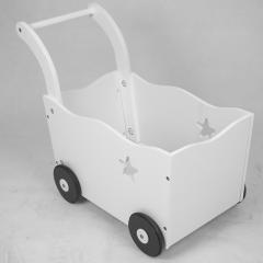Chariot de jeu en bois XL10220 pour maison de jeu en blanc