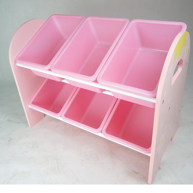 Most Popular Toys Basket Children Storage Cabinets/Shelves for 2 Layer Toy Cabinet Supplier