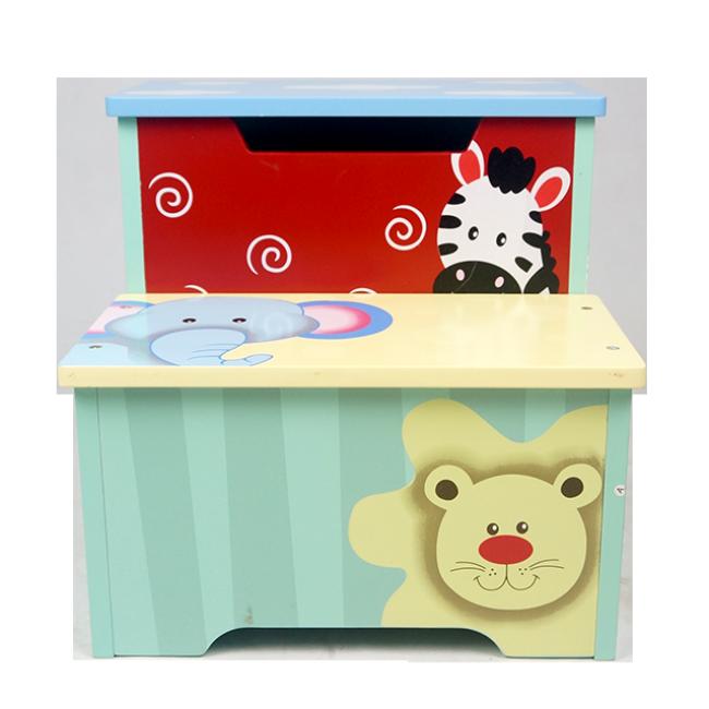 High Quality Cartoon Pattern Wooden Children Toy Storage Cabinet