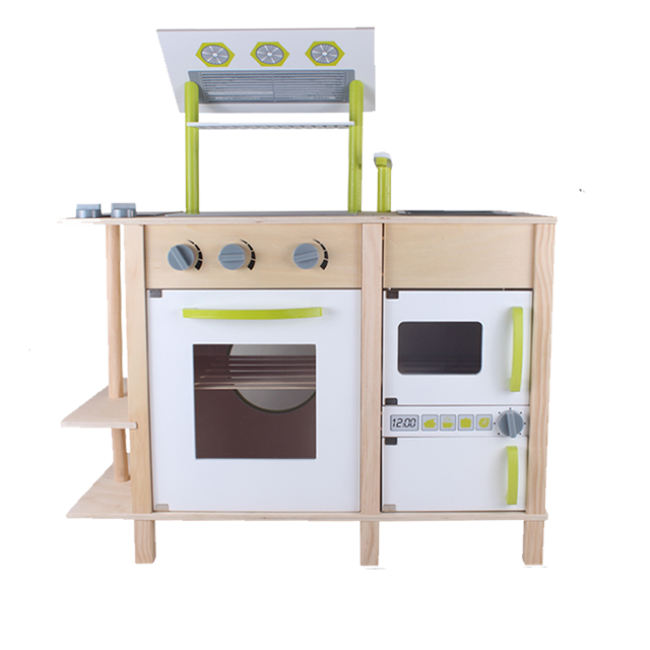 The Children′s Favorite Green Wooden Kitchen Toys