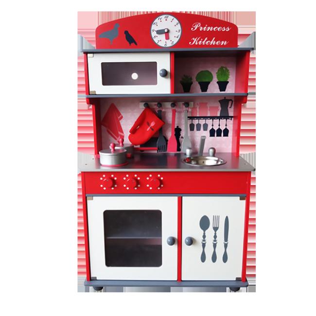 The Children′s Favorite Red Birdie Wooden Kitchen Toy Play House