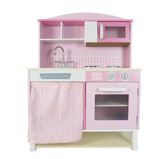Lovely Pink Wooden Kitchen Toy