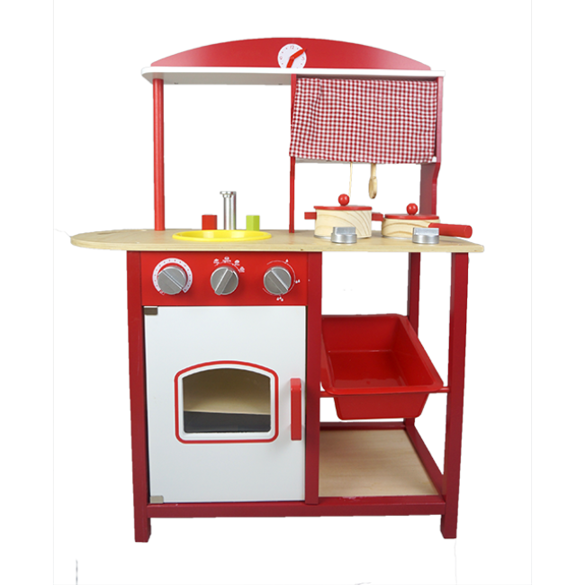 The Kitchen Toys Children′s Wooden Toy Play House Toys Growth Toys Baby Toys