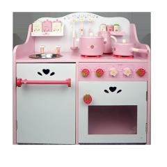 XL10228 Nouveau Design Fraise Cuisine Jouets En Bois Jouets pour Filles En Gros Cuisine Jouets Mode Cuisine Jouets