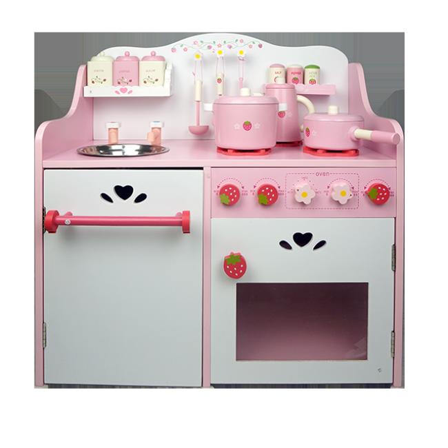 XL10228 New Design Strawberry Kitchen Toys Wooden Toys for Girls Wholesale Kitchen Toys Fashion Kitchen Toys