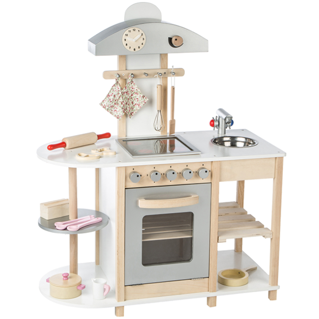 Educational toys play wooden set kitchen play set for kids