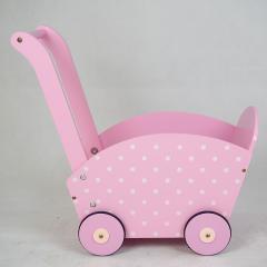 Chariot à provisions rose en bois pour enfants XL10219