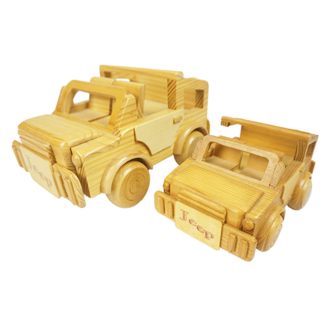 The Children′s Favorite Simulation Wooden Jeep