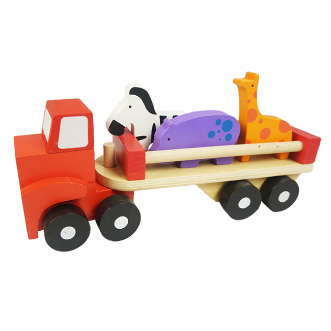 XL10139 Children Building Block Wooden Car for Kids Funny Educational Wooden Cartoy Set DIY Trailer Toy