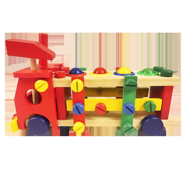 XL10140 DIY Entellectual Trucks Toy Wooden Children Toys Colour Building Block