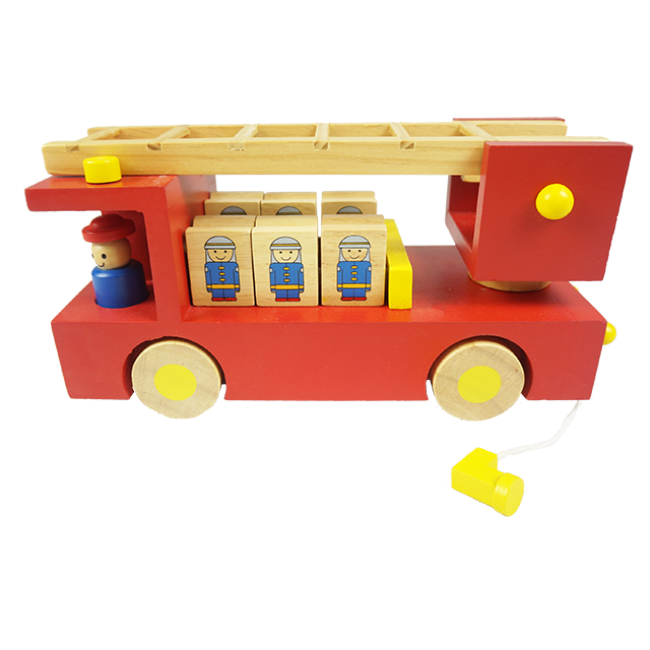 Wooden Fire Truck Modelsimulated Fire Truckbrand Fire Truck Educational Toys for Boys