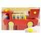 Camions de pompiers en bois Modelsimulated Fire Truckbrand Camions de pompiers Jouets éducatifs pour garçons