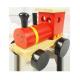 Visage en bois locomotive de conception de visage en gros Locomotive en bois de jouet