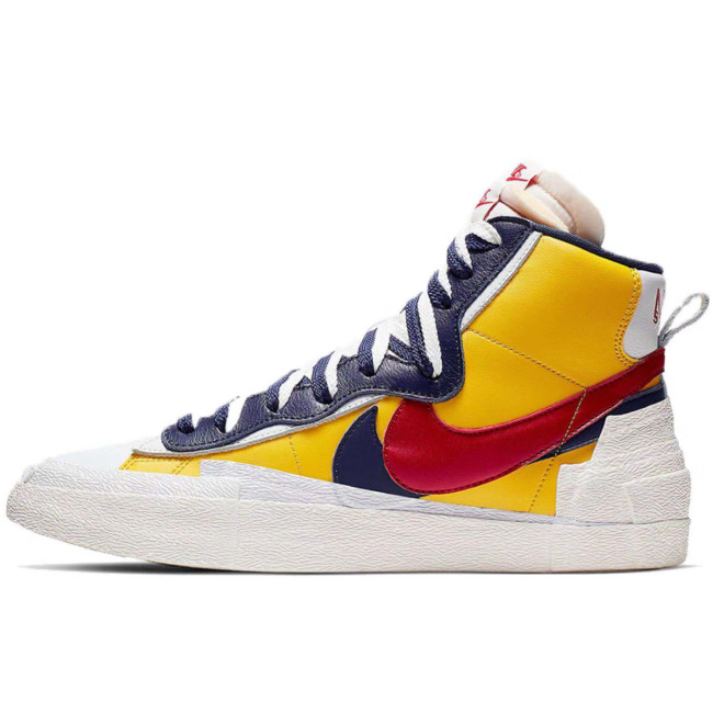 Hot Sacai x Blazer Mid with Dunk Casual Shoes Women Mens Trainers Toki Slip Txt Sports Skate Avant-garde Trailblazers Gold Navy Sneakers Size 36-44
