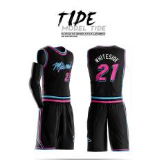Custom Mens Basketball Jersey Sets free design Uniforms Kits Boys Sports Clothing Dwyane Wade Whiteside Breathable Customized College Team jerseys