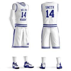 Custom Sublimation Printing mens basketball jerseys Blue White Any Color Basketball Clothing team Uniform Jersey Short free design