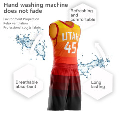 Wholesale Men's Youth Custom Basketball Jerseys Sets Donovan Mitchell Jersey orange collage Basketball uniforms Customized free design