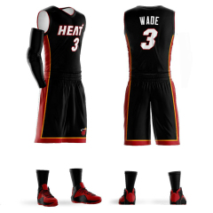 New hot Men's Youth Custom Basketball Jerseys Sets Wholesale Dwyane Wade Jersey Basketball uniforms Customized color number name logo free design sport shirts