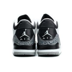 "Air Jordan 3 Retro BG ""Wolf Grey""-""Black Cement"" basketball shoes Men cracked sport shoes"