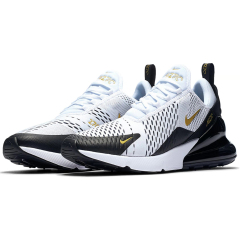 Hot Sale 2019 Air Max 270 Flyknit Casual Shoes Running cushion Shoes Men Women Sports Shoes Fashion trainers Sneakers White Gold