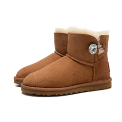 New W Mini Bailey Bling Women Winter Snow Boots Fashion Australia Short bow boots Ankle Knee Bow girl mini Bailey Boot brown