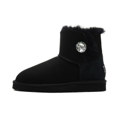 New W Mini Bailey Bling Women Winter Snow Boots Fashion Australia Short bow boots Ankle Knee Bow girl mini Bailey Boot black 36-40 size