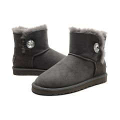 New W Mini Bailey Bling Women Winter Snow Boots Fashion Australia Short bow boots Ankle Knee Bow girl mini Bailey Boot Gray 36-40 size