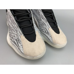 "2019 Yeezy Basketball ""Quantum"" Released Authentic Kanye West 026 Yeezy Quantum Basketball Shoes Boost 3M Reflective White Grey Mens Womens Sports Sneakers big size"