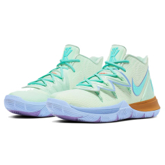 Hot Kyrie 5 x Spongebob SquarePants x hard wearing basketball shoes actual flyknit sport shoes