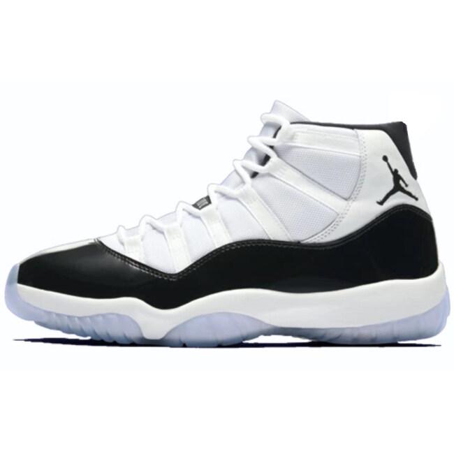 Discount Air Jordan 11 Concord men basketball shoes With Box Sport Sneakers jordan 11 balsketball boots free ship Black White big size