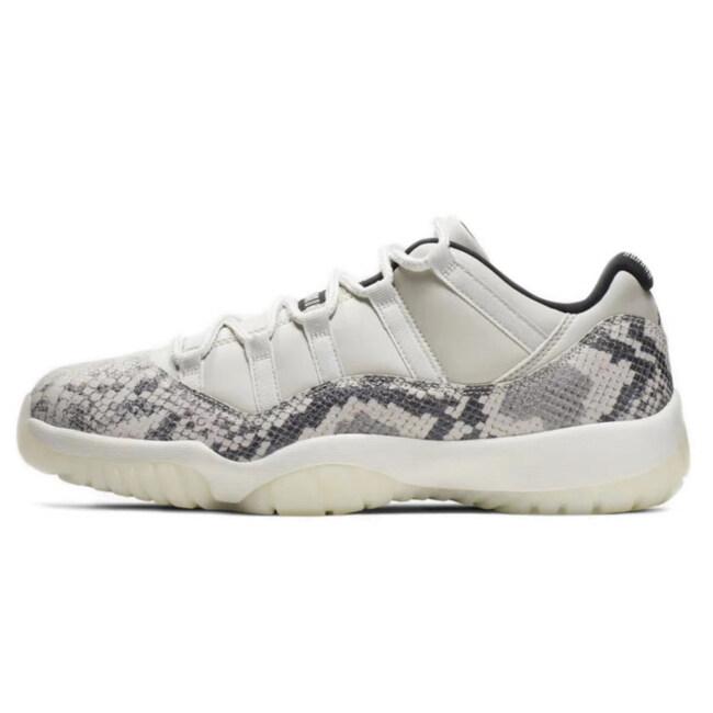 Discount Air Jordan 11 Low snakeskin Men Basketball Shoes air jordan retro 11s Concord mens trainers Sport Sneakers Light Bone big size