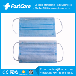 CE FDA Manufacturer Suppliers of China 3ply 3 ply Earloop Disposable Medical Surgical Face Masks
