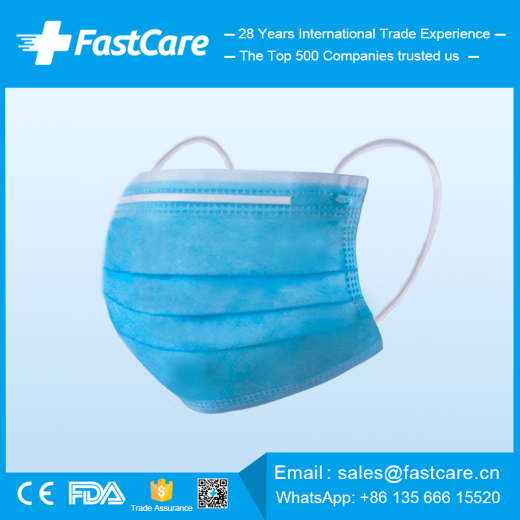 CE FDA 3 ply earloop disposable medical face surgical masks