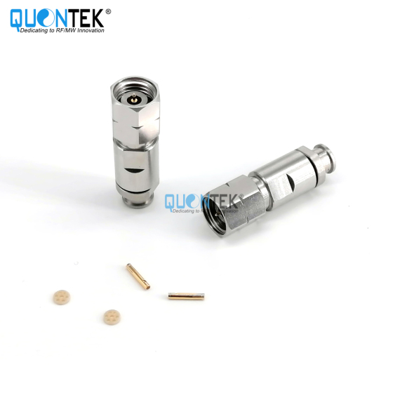 High Frequency connctor,2.4 Male for QTB330P cable,Clamp type,to 50GHz