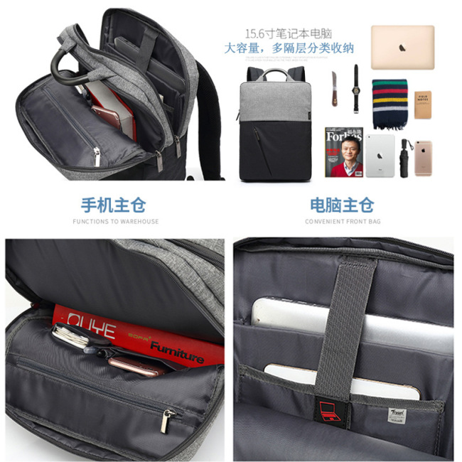 Cross border backpack British business backpack male USB new gift computer backpack customized one
