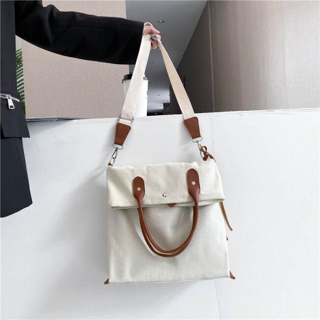 30 just Jiang Shuying Wang Manni same canvas bag 2020 new Korean handbag Canvas Shoulder Bag
