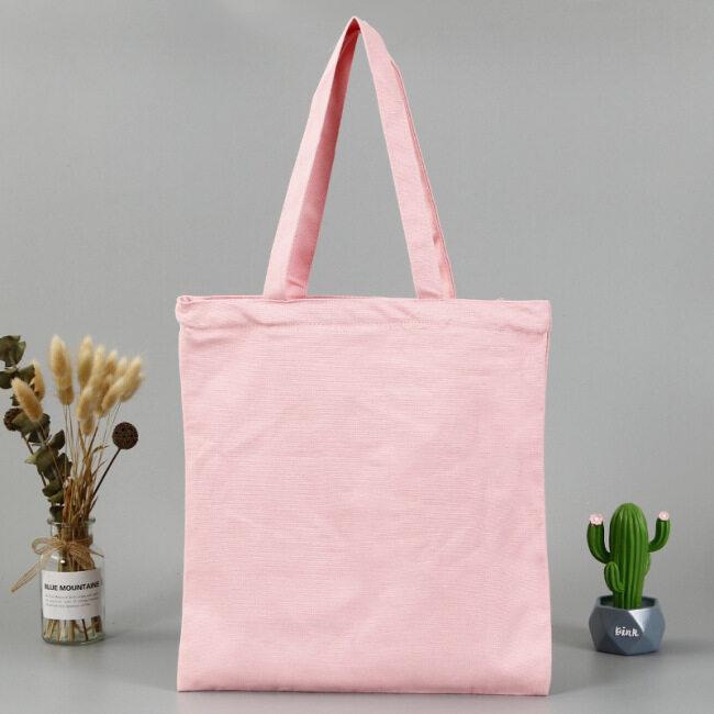 Blank hand-held cotton bag customized student single shoulder sail bag printing advertising gift canvas bag custom logo