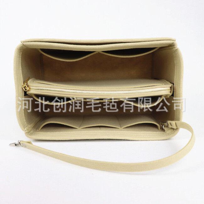Cross border wholesale Korean felt make-up bag multi-functional travel women's mummy storage make-up bag customized logo