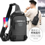 Cross border special for new men's chest bag multifunctional outdoor Single Shoulder Messenger Bag Korean USB chest bag waterproof Backpack