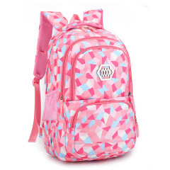 Natural fish girl's backpack primary school schoolbag grade 3-4-6 children's schoolbag ridge protection and load reduction customized Backpack