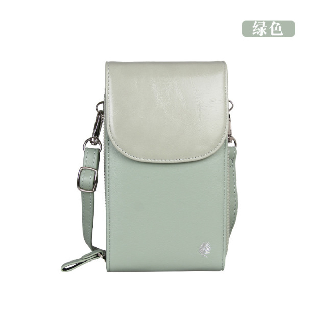 New Korean fashion multi-functional mobile phone bag vertical Mini Wallet large capacity women's One Shoulder Messenger Bag