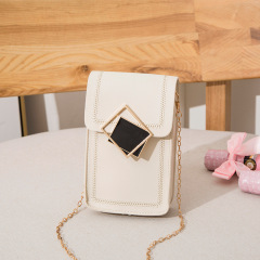 Factory direct sales: New Korean version of single shoulder straddle small square bag women's fashion mobile phone zero wallet