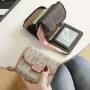 2020 new fashion Korean small wallet women's short leather women's Cowhide multi card card bag wallet