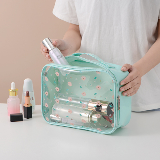 New transparent wash and make-up bag travel ins three piece set of PVC large capacity original printing storage bag