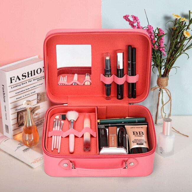 2020 new style make-up bag multi-layer large capacity Portable Travel Make-Up box