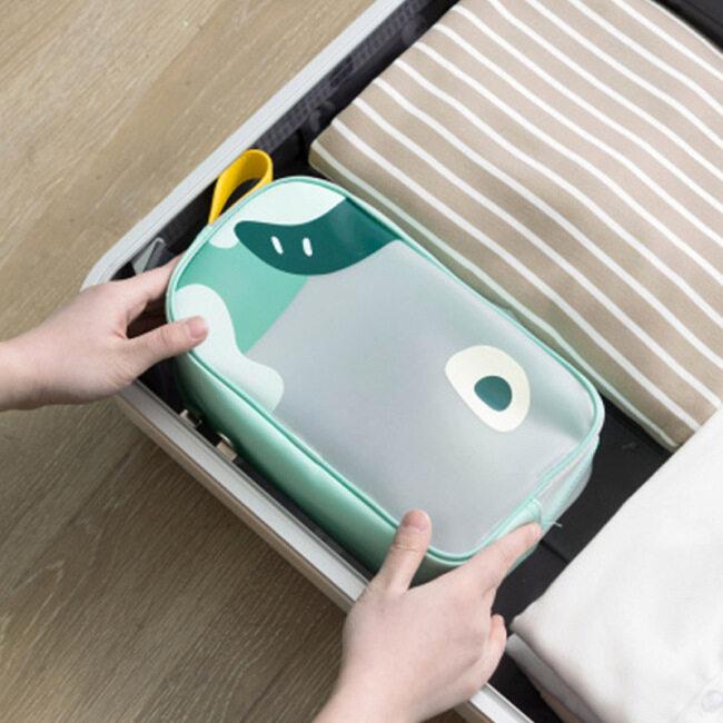 TPU Clear Cosmetic Travel Toiletry Bag Set