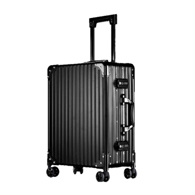 Baibao light dressing case pull rod aluminum magnesium alloy color make-up with make-up box 22 inch Bluetooth double open portable Cosmetic Case Bag