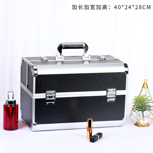 Aluminum alloy professional make-up box beauty salon embroidery nail kit a wholesale agent